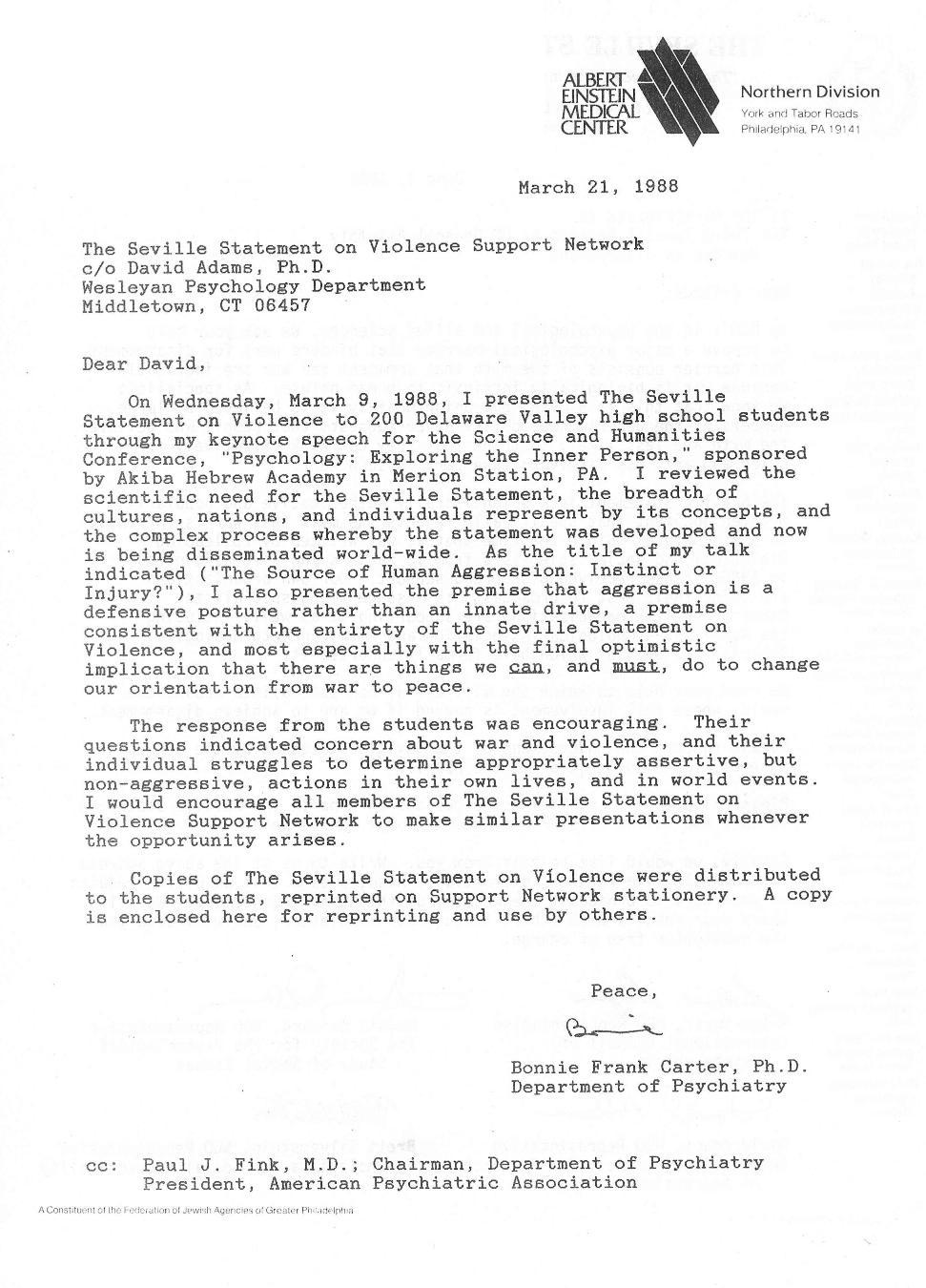 seville statement newsletter 3 1
